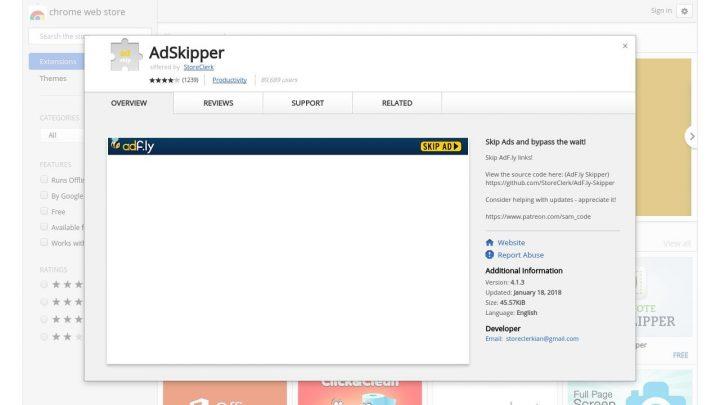 adskipper-adfly-720x405 Come eliminare/bypassare/togliere definitivamente i link di Adfly Servizi web