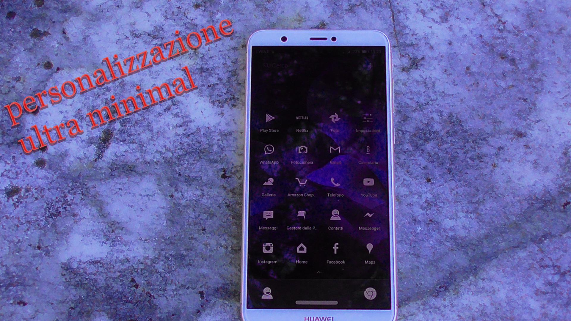 Personalizzazione Android ultra minimal