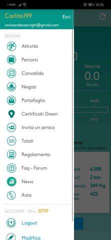 Menù-laterale-Movecoin-222x480 Tutte le novità di Movecoin 2019:Cosa è cambiato! Android