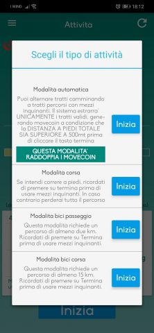 Tipi-di-attività-movecoin-222x480 Tutte le novità di Movecoin 2019:Cosa è cambiato! Android