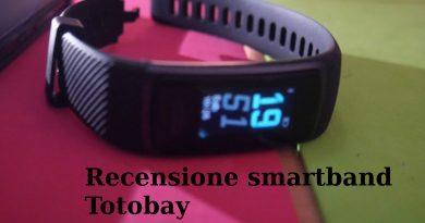 Recensione completa smartband Totobay