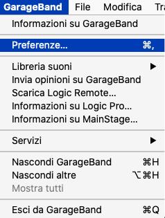 garageband-preferenze Come migliorare l'audio di qualsiasi microfono senza avere dei mixer Tutorial